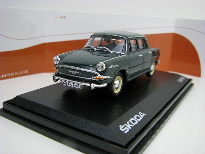 Škoda 1000MB 1964 Dark Green 1:43 Abrex